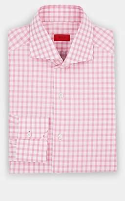 Isaia Men's Checked Cotton Poplin Dress Shirt - Pink