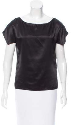 Narciso Rodriguez Short Sleeve Silk Top