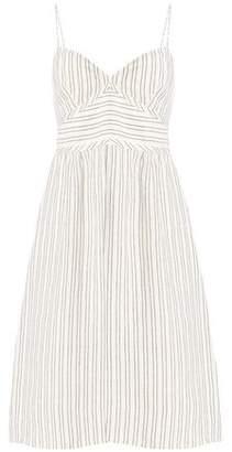 Theory Striped Linen Dress