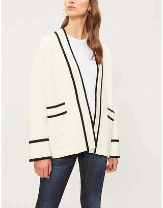 Claudie Pierlot Open-front knitted cardigan