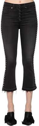 Veronica Beard Carolyn Cotton Denim Jeans W/ Studs