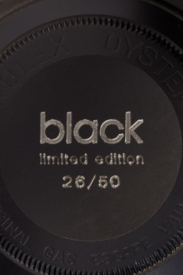 Black Limited Edition Matte Black Limited Edition Rolex Sea Dweller Watch 4