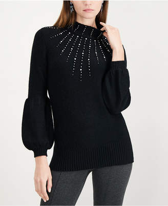 Alfani Studded Turtleneck Sweater