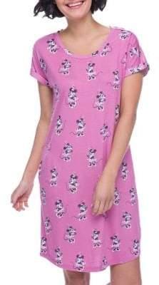 Munki Munki Mommy & Me Pajamas Women's Minnie Mouse Short-Sleeve Nightshirt