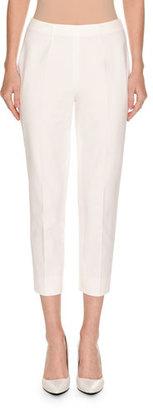 Piazza Sempione Audrey Slim-Leg Cropped Pants, White $395 thestylecure.com