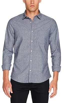 Nowadays Men's Light Brushed Basic Shirt Casual (Dress Blues 647)