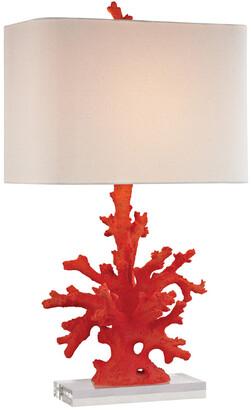 Elk Lighting 28In Red Coral Table Lamp