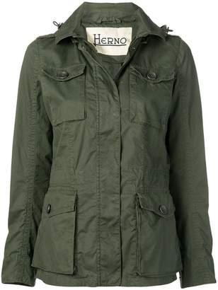 Herno hooded cargo jacket