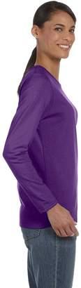 Gildan G540L Ladies Heavy Cotton Missy Fit Long-Sleeve T-Shirt - Sport Grey - XL