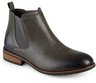 Territory Men's Faux Leather High Top Round Toe Wide Width Chelsea Dress Boots