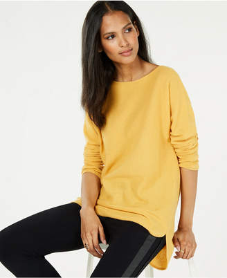 Charter Club Pure Cashmere Pullover Shirttail Sweater in Regular & Petite Sizes, Created for Macy's