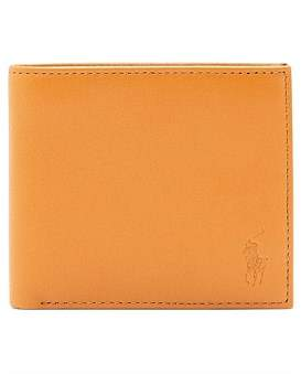 Polo Ralph Lauren Smooth Leather Embossed Logo Bifold 8Cc
