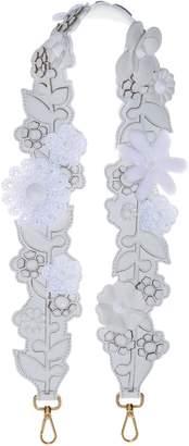 Fendi Floral Applique Leather Guitar Bag Strap