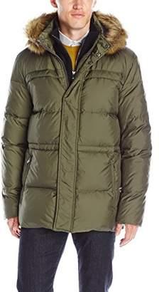 Andrew Marc Men's Tundra Down Parka with Fleece Bib