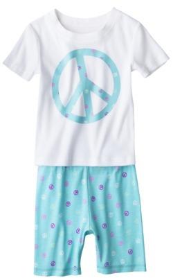 Xhilaration Girls' Floral 2-Piece Tight Fit Short Pajama Set