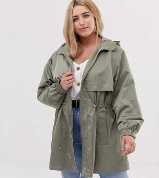a4732c5bc77 Asos DESIGN Curve lightweight parka with jersey lining