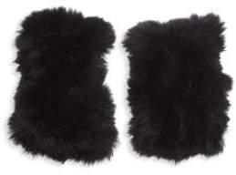 Bari Lynn Kid's Rabbit Fur Gloves