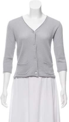 Miu Miu Cashmere Short Sleeve Cardigan