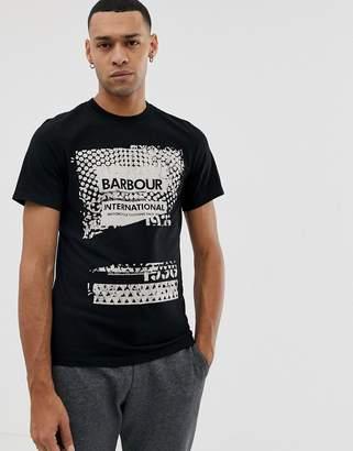 Barbour International printed graphic logo t-shirt in black