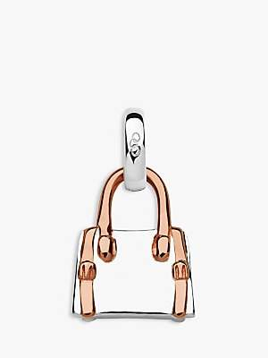 Links of London A Day Out Shopping Handbag Charm, Silver/Rose Gold