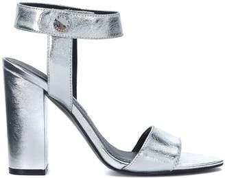 KENDALL + KYLIE Kendall+kylie Rowan Silver Leather Heeled Sandal