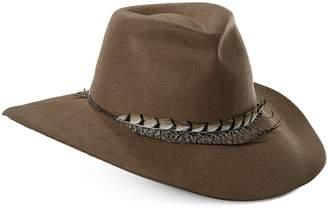 Scala Women's Feather Trimmed Safari Hat