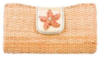Rafe Basketweave Embellished Clutch