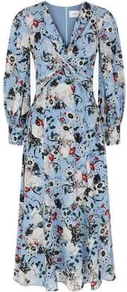 Erdem Long Sleeved Eliana Eastbury Twist Midi Dress