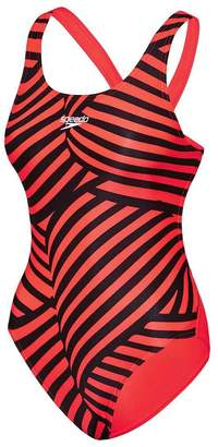 Speedo Girls School Colours Leaderback Swimsuit