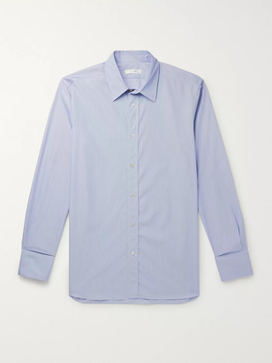 The Row Keith Striped Cotton Shirt - Men - Blue