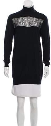 Thakoon Lace-Paneled Wool Sweater
