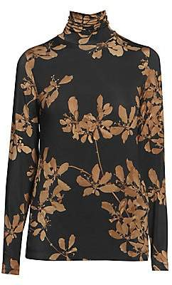 Dries Van Noten Women's Floral Turtleneck