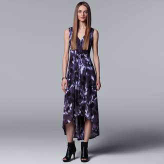 Vera Wang Women's Simply Vera Pleated High-Low Maxi Dress