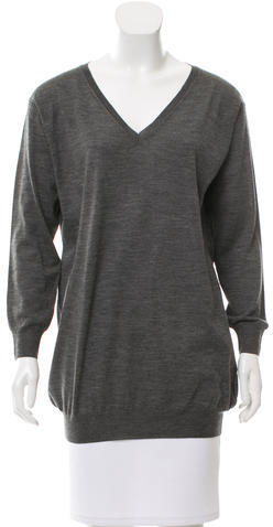 pradaPrada Mélange V-Neck Sweater