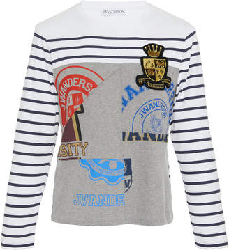 J.W.Anderson Breton And Print Long Sleeve Jersey T-Shirt