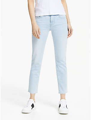 7 For All Mankind Roxanne Mid Rise Slim Illusion Cropped Jeans, San Clamente