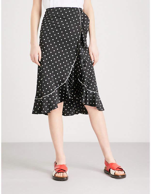 Dufort ruffled silk skirt