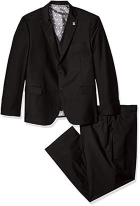 Stacy Adams Men's Big and Tall Bud Vested Slim Fit Suit