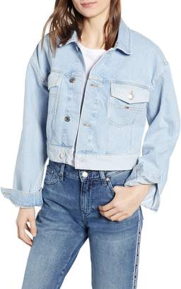 Tommy Jeans Contrast Wash Crop Trucker Jacket