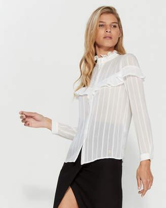 Gaudi' Gaudi Ruffled Long Sleeve Shirt