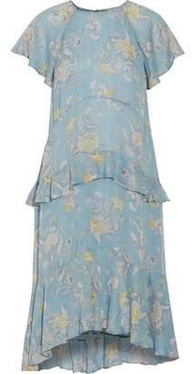 Zimmermann Adorn Floating Ruffled Floral-Print Silk Crepe De Chine Midi Dress