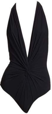 Karla Colletto Swim One-Piece Halter Swimsuit
