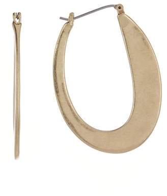 Lucky Brand Abstract Oval 41mm Hoop Earrings
