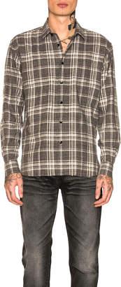 Saint Laurent Striped Tunnel Collar Shirt
