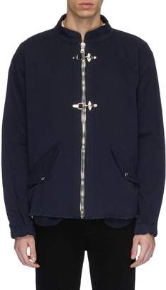RtA Hook-and-eye zip front twill jacket