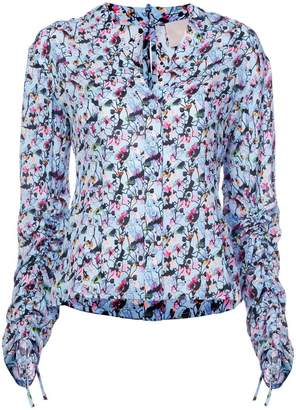 Jason Wu Collection floral ruched blouse