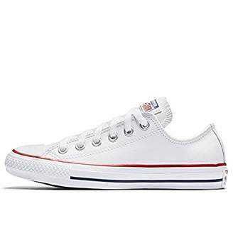 Converse Unisex Adults' Chuck Taylor Ct Ox Leather Fitness Shoes, White 100