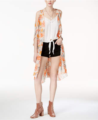 American Rag Juniors' Cold-Shoulder Kimono, Only at Macy's $59.50 thestylecure.com