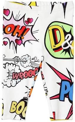 Dolce & Gabbana Cartoon Print Cotton Leggings