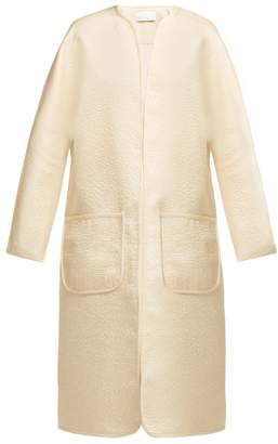 Raey Stab Stitch Satin Dolman Sleeve Coat - Womens - Ivory